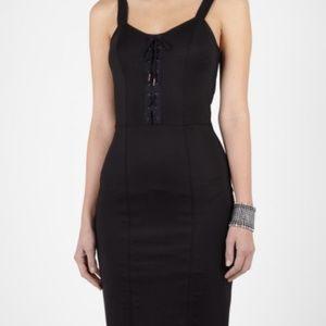 Alexander McQueen McQ Corset Laced Black Dress LBD